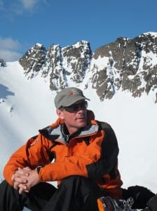 Alpine Adventures owner and guide Mark Dewsbery at home in the snow_media