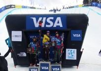 Freeski halfpipe podium women