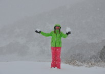 Handfuls of snow at Perisher