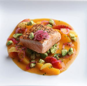 Seared King Salmon at Sweet Basil
