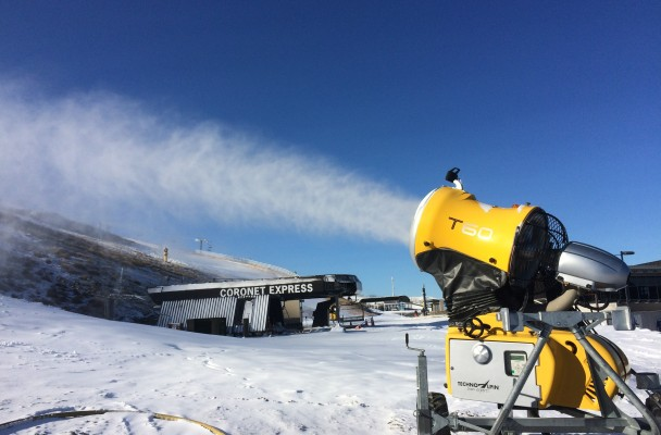 Snow gun pumping out the white stuff at the base of Coronet Peak.jpg