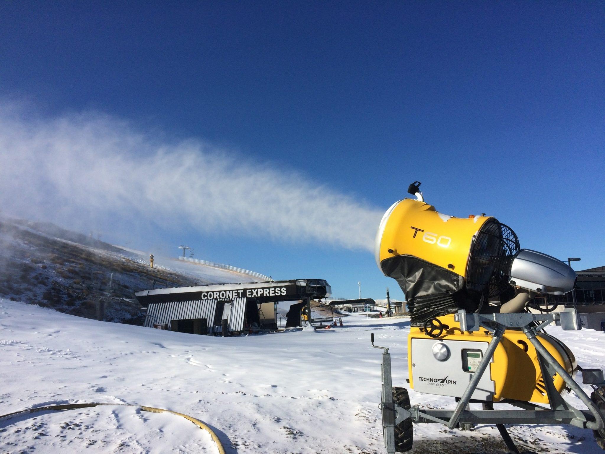 Snowmaking starts at coronet peak snowsbest