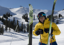 Jonny Moseley skiing at Squaw Valley