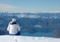 Taking in the view at Treble Cone