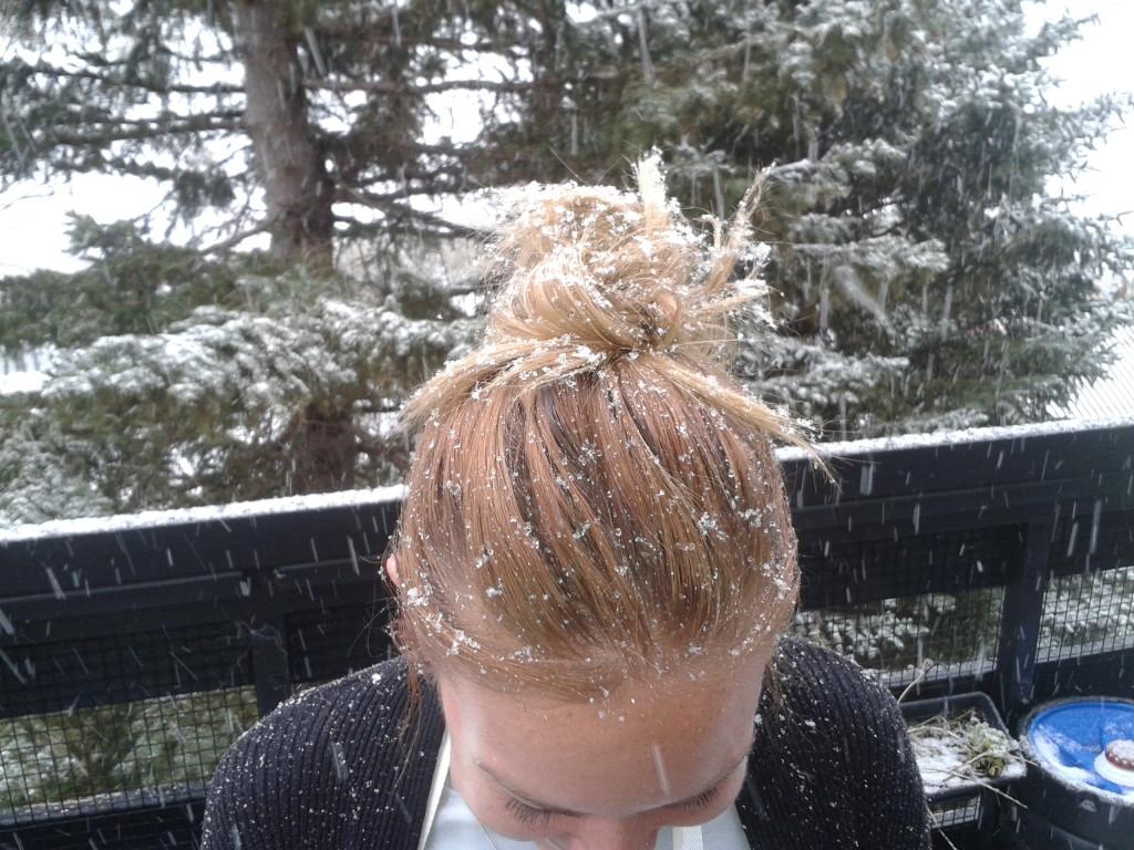 Bianca's head of snow hair