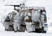 Royal Marines from 45 Cdo on Winter Deployment