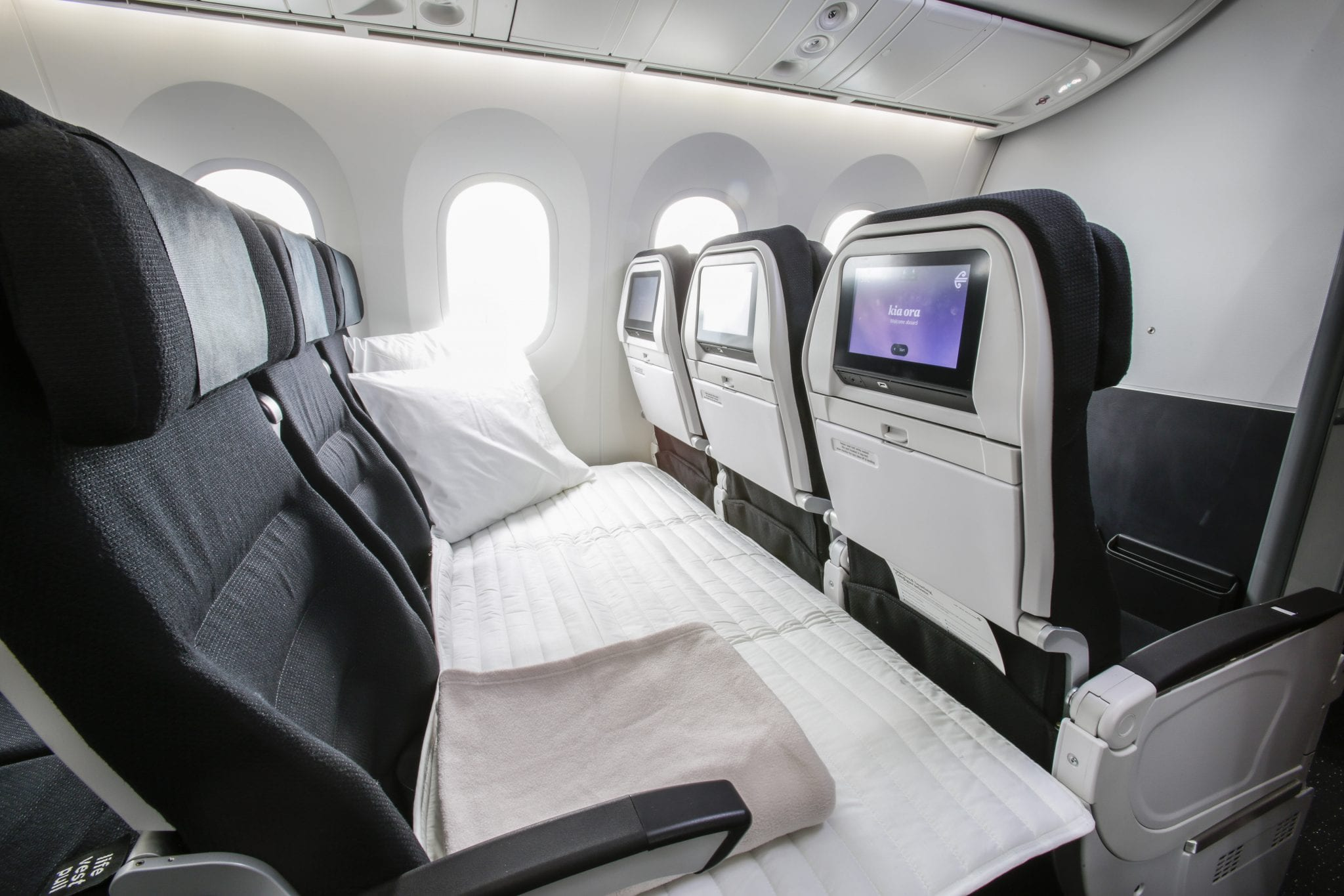 air new zealand economy sky couch snowsbest. Black Bedroom Furniture Sets. Home Design Ideas